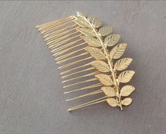 A nontraditional bride should go for something playful like a peacock hair comb ($25), which could also serve as your something blue. : This rhinestone crystal leaves tiara ($165) has the making of a fairy-tale wedding. : You dont have to fly to Santorini to feel like a Grecian goddess. This Greek branch hair comb ($30) adds the perfect touch.