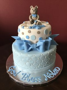 Christening Cake Cross Cakes, Christening, Desserts, Food, Tailgate Desserts, Deserts, Essen, Postres, Meals