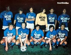 O. MARSEILLE 1973-74.  Debout : Trésor, Franceschetti, V. Zvunka, Carnus, Lopez, Bosquier. Accroupis : Magnusson, Buigues, Skoblar, Kéruzoré, Kuzowski.