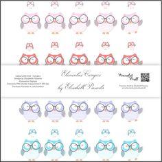 Kit Elementos Corujics by Elisabeth Pimenta. Kit de elementos digitais corujas com fundo transparente e sombra. #kitdigital #paperdigital #corujas #corujics #pimentaskraft #elisabethpimenta #elo7