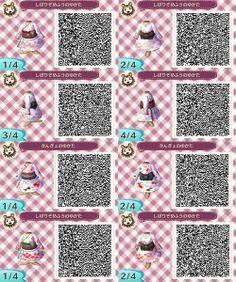 girls cute dresses QR code animal crossing new leaf Animal Crossing QR Code new leaf qr code acnl qr code Qr Code Animal Crossing, Animal Crossing Qr Codes Clothes, Animal Games, My Animal, Motif Acnl, Ac New Leaf, Motifs Animal, Happy Home Designer, Judy Hopps