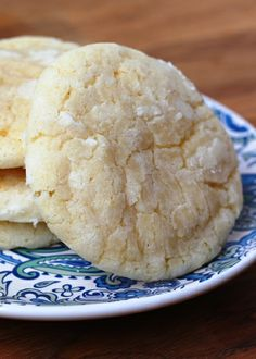 Lemon Crinkle Cookies by Barefeet In The Kitchen
