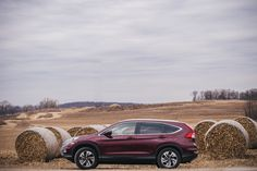 Every 2016 CR-V comes standard with a rearview camera, which is perfect when you're parallel parking between hay bales.
