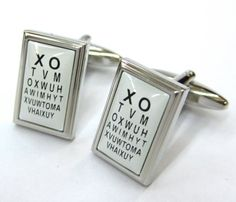 Dr. Eye Chart Optometrist Cufflinks Cuff Links - I WANT THESE!!