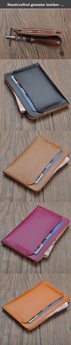 Handcrafted genuine leather leather Cards & Cash slim wallet cards holder wallet mens women wallet unisex. The leather sleeve is designed to protect and carry your credit card and money very well..Each case will be tested before shipping .This case edge is polished and waxed twice to make it very smoothly. Features: 100% hand work 100% Italian leather soft...