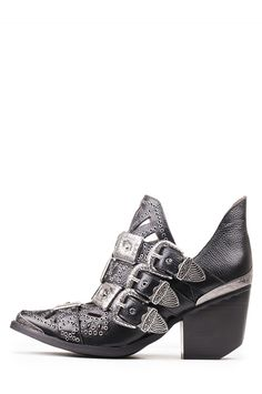 Jeffrey Campbell Shoes WYCLIFF STUD MUFFIN in Black Silver