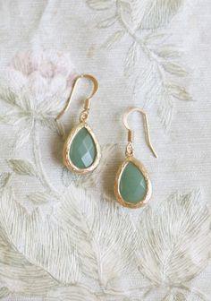 love sonnet green earrings