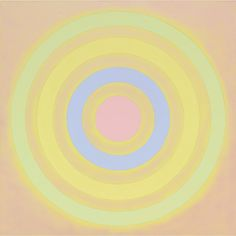 "Kenneth Noland - Mysteries: Toward East Light, 2002. acrylic on canvas, 60"" x 60"" (152.4 cm x 152.4 cm)."