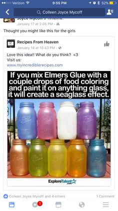 Elmers glue and food coloring