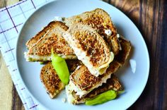 White Bean Swiss Cheese Melts -- I want this on GF bread of course ... ReluctantEntertainer.com