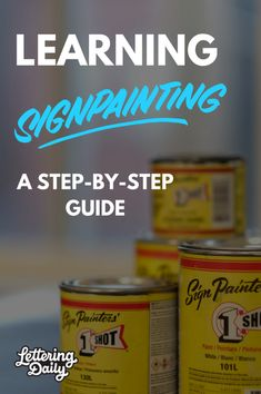 Learning sign painting with Gaston, Lettering Daily
