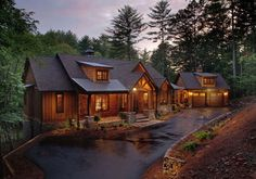 Gorgeous log cabin home.