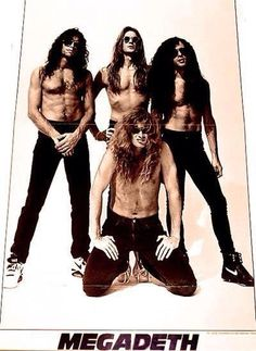 Nick Menza, David Ellefson, Marty Friedman, and Dave Mustaine