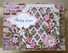 Cricut Paper Lace cartridge with Paper Studio Country Road paper pack