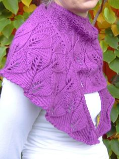 Free Knitting Pattern: Blattltuach by Angelika Luidl