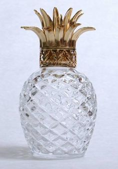 glass/crystal pineapple lamp