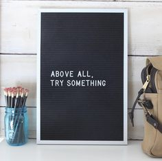 Above all, try something. - FDR