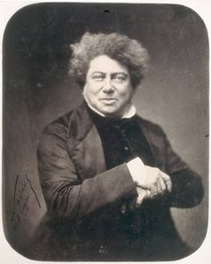 """""""Alexandre Dumas (Villers-Cotterêts 1802 – Puys, Dieppe 1870)."""" French writer best known for his historical novels on high adventure which have made him one of the most widely read French authors in the world. Many of his novels, including The Count of Monte Cristo, The Three Musketeers or Twenty Years After were originally serialized. He also wrote plays and magazine articles and was a prolific correspondent. Born in poverty, was the grandson of a French nobleman and a Haitian slave."""