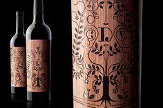 Clos du Val winery lasercut wine packaging design