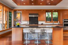 Click here to tour this west coast contemporary home: http://victoria.modernhomemag.ca/uplands-home-gets-west-coast-luxury-makeover/ #westcoast #renovation #reno #kitchendesign