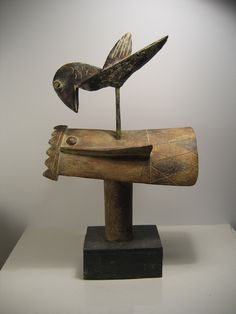 John Maltby, King and Raven.  14 inches tall #sculpture