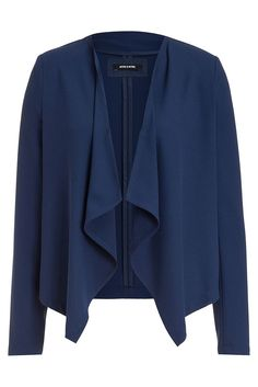 Mit dem lässigen Open Front Blazer von MORE & MORE liegen Sie voll im Trend, egal ob zur cool verwaschenen Jeans oder zur seriösen Businesshose. Material: 64% Polyester, 32% Viskose, 4% Elasthan...