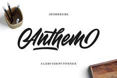 Anthem Typeface - Script