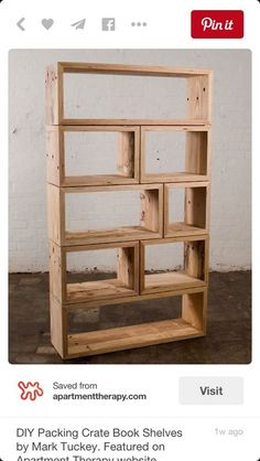 Wood shelf apple wine crate table wall shelves book case in Camp Lejeune