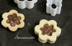 Frollini di Riso e Nutella , biscotti farciti friabili e leggeri. Senza Glutine. I frollini di riso sono indicati sia a colazione accompagnati al caffè o a