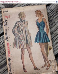 25 SALE 40s/50s Patterns Simplicity 2441 by EleanorMeriwether, $30.00