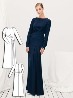 Long Sleeve Maxi Dress 12/2015 #110B http://www.burdastyle.com/pattern_store/patterns/long-sleeve-maxi-dress-122015?utm_source=burdastyle.com&utm_medium=referral&utm_campaign=bs-tta-bl-151130-GlamourShot110B