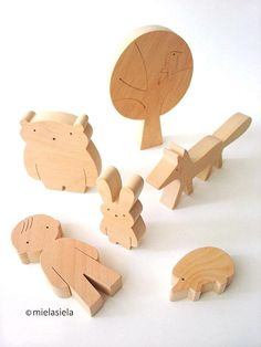 Handmade wooden toy set Boy and forest friends. Our toys are safe, ecological, natural and long-lasting. Simple design, playful and small size figures are perfect for little hands to hold and use in play. The toys are fun for toddler and preschooler as well. They help kids to familiarise