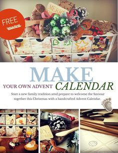 Start a new family tradition and prepare to welcome the Saviour together this Christmas with a handcrafted Advent Calendar.