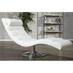 Szezlong Relax biały Egg Chair, Apartment Design, Outdoor Furniture, Outdoor Decor, Floor Chair, Sun Lounger, Living Room Furniture, Modern, Interior