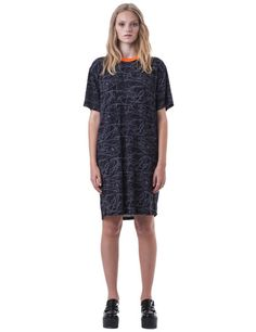 TOTALLY WIRED TEE DRESS / BLACK WIRE