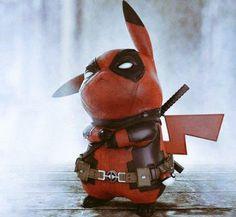 #Pikachu se #Cosplay en #Deadpool #Pokemon