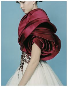 Alexander McQueen  W July 2008Title: Rich Rewards Photography: David Slijper Models: Karlie Kloss & Viktoriya Sasonkina