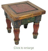 Old Mexico Painted Wood End Table Rustic Furniturehome Decor Furniturefurniture Stylesmexican
