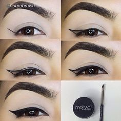 Amazing! Take a look at this incredible eyeliner pictorial by @Nubia Cruz Brown using Motives Gel Eyeliner in Little Black Dress