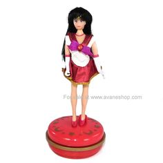 Sailor Moon Doll 6 inch Sailor Mars Doll for sale – Avane Shop Sailor Moon Toys, Sailor Mars, Sailor Moon Collectibles, Dolls For Sale, Her Hair, Wonder Woman, Superhero, Wonder Women