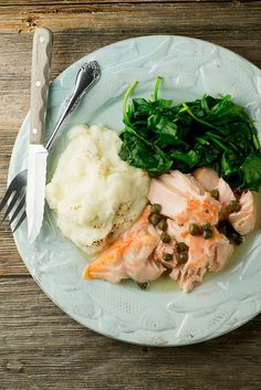 Salmon in Buttered White Wine Sauce - Framed Cooks