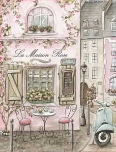Paris Nursery Decor Set Of 4 Paris Prints Personalized Art For Girl's Pink Paris Themed Bedroom, Watercolor Prints, 6 Sizes to Pink Paris, Paris Vintage, Vintage Diy, Vintage Paris Bedroom, Vintage Travel, Paris Decor, Paris Theme, Nursery Prints, Nursery Wall Art