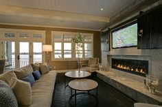 Fireplace and hiding the TV