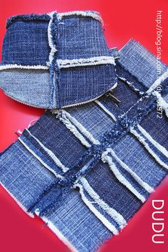Lots of pictures what to do with old jeans . . . awesome detail and design ideas