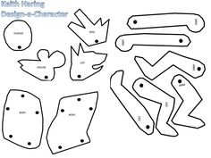 Keith haring on pinterest figure drawing art lessons for Keith haring figure templates