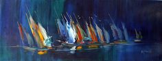 Abstract Paintings of Boats - Bing images Sailboat Painting, Painting Canvas, Sip N Paint, Pictures To Paint, Painting Pictures, Abstract Art, Abstract Paintings, Framed Art, Bing Images