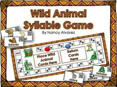 Wild Animal QR Code Syllable Activities - Teaching with Nancy Prek Literacy, Phonics Activities, Speech Therapy Activities, Early Literacy, English Language Learners, Language Arts, Teaching Reading, Kindergarten Reading, Kindergarten Teachers