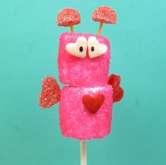 marshmallow love bugs | The Decorated Cookie these are so cute!