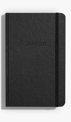 This American-made 2016-2017 academic planner features a linen hardcover and smyth sewn binding which improves the planner's durability and overall lifespan. Features a weekly format shown on a two-page spread. Includes month at a glance, historical facts, moon phase and ample space for note-taking.