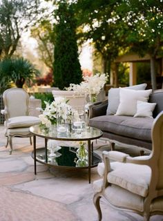 Formal, but inviting, even dream like!  Can you imagine a sitting there on a wonderful June evening in SoCal with your very best friend, and a superior glass of wine?